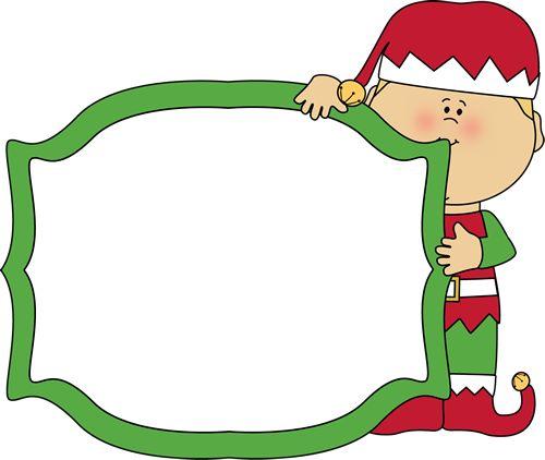 Santa And Elf Border Clipart - Clipart Kid