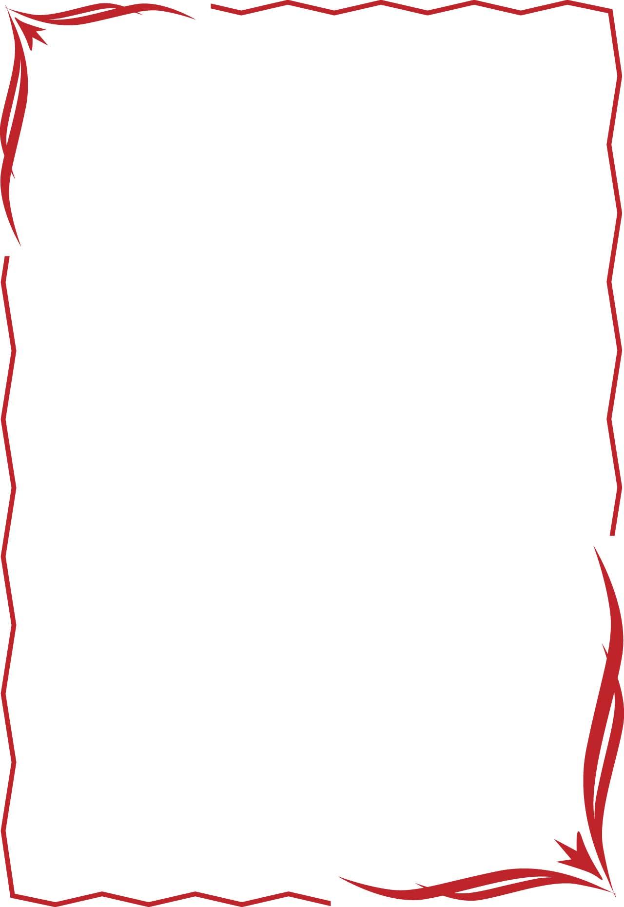 Fancy Red Ribbon Border Vector