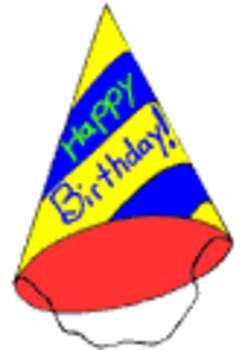 Free Clipart Picture Of A Cone Shaped Birthday Hat