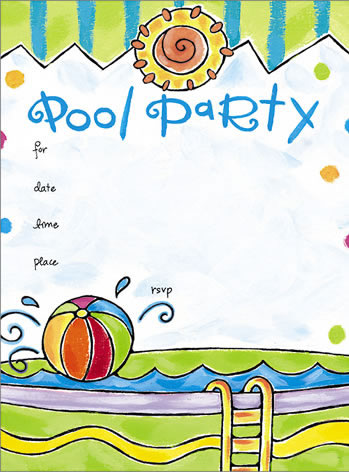Pool Party Invitations Clipart Clipart Suggest