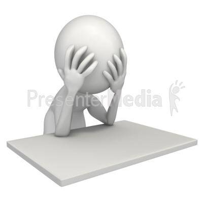 Frustrated At My Desk   Home And Lifestyle   Great Clipart For