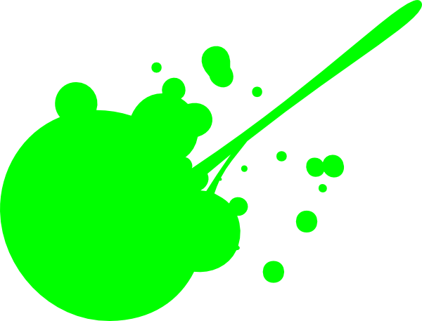 Green Paint Splatter Clip Art At Clker Com   Vector Clip Art Online