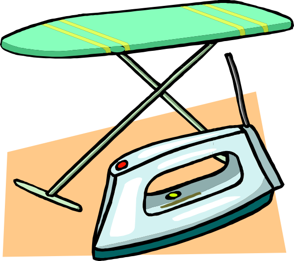 Ironing Board And Iron Clip Art At Clker Com   Vector Clip Art Online
