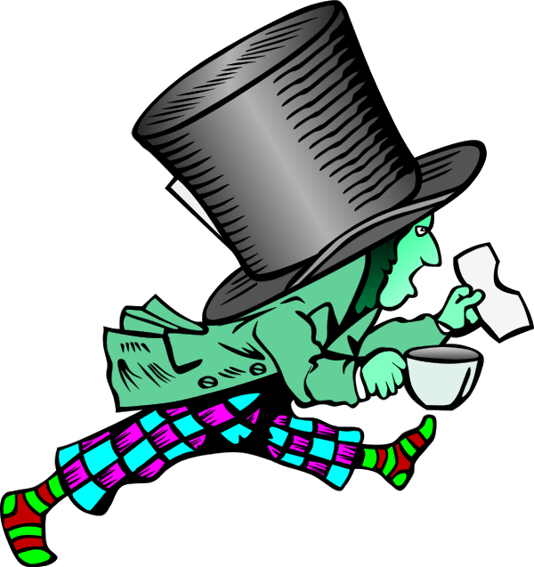 Mad Hatter   Vector Clip Art