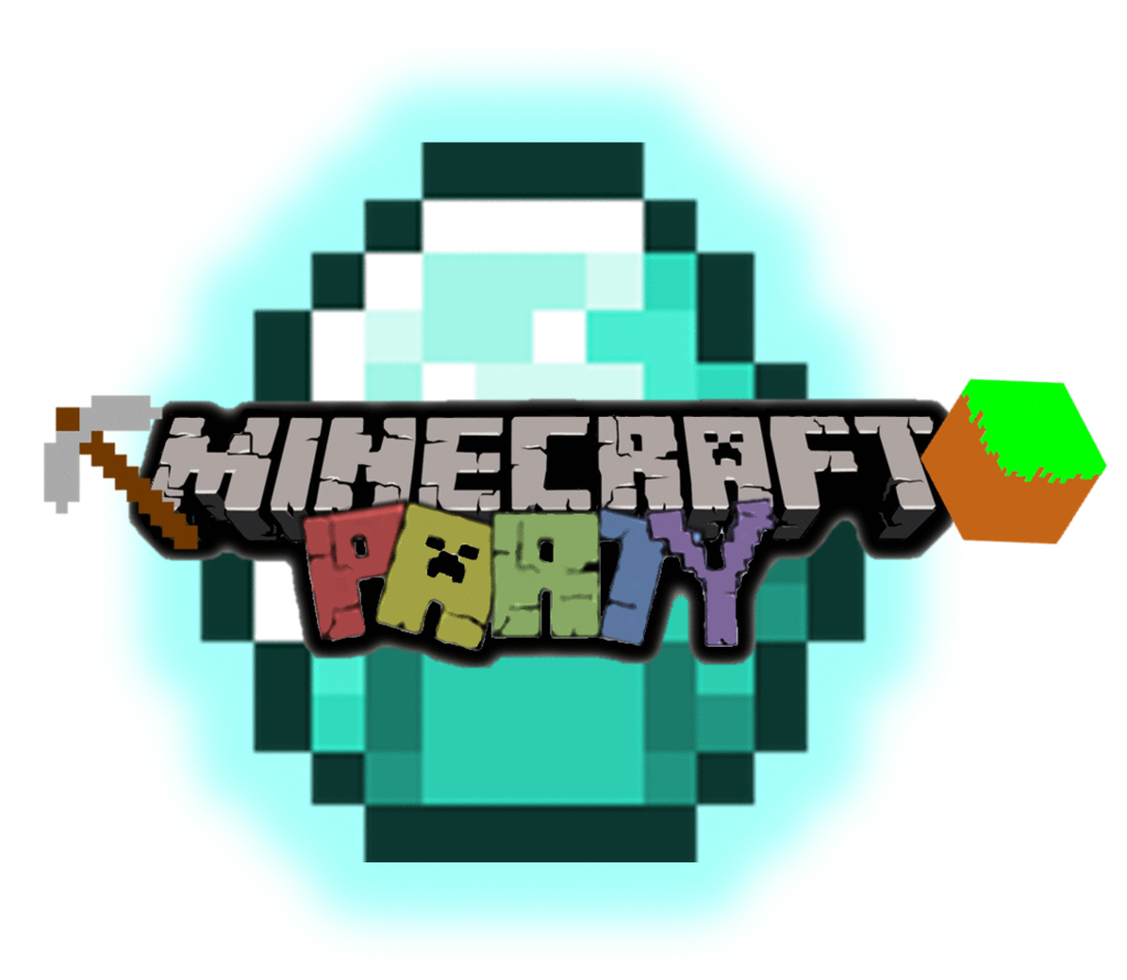 Clip Art Minecraft Clipart minecraft logo clipart kid party time sign panda free images