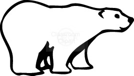 Polar Bear Clip Art Black And White   Clipart Panda   Free Clipart