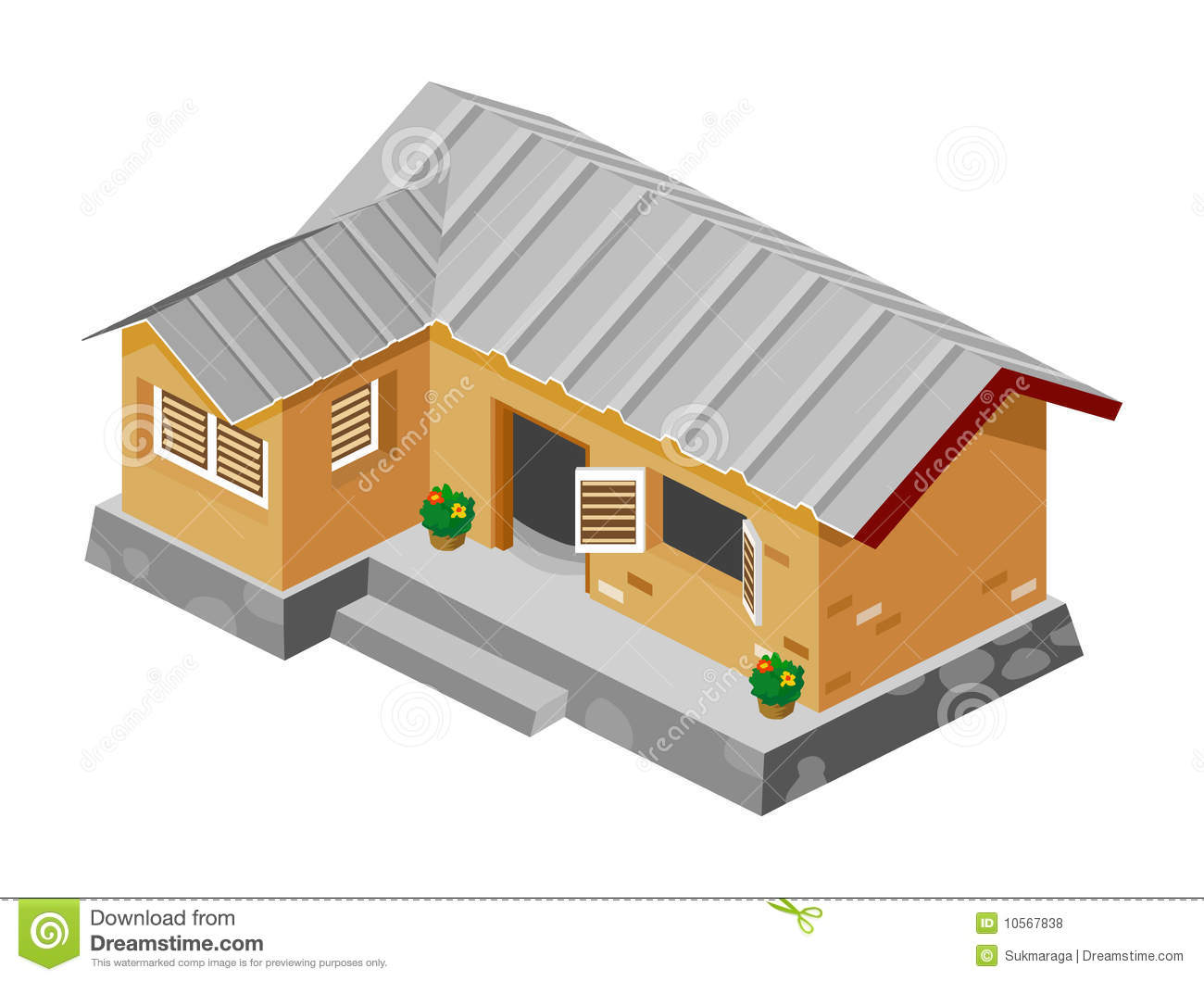 Poor House Clipart Poor House Isometric Vector