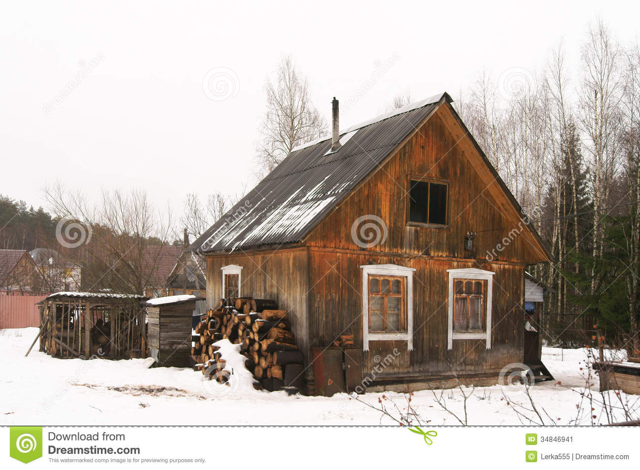 Poor House Clipart Rural Poor House Stock Image