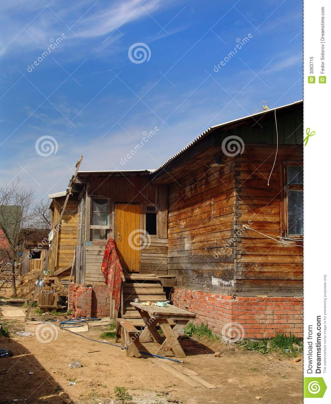 Poor House Royalty Free Stock Photo   Image  3063715