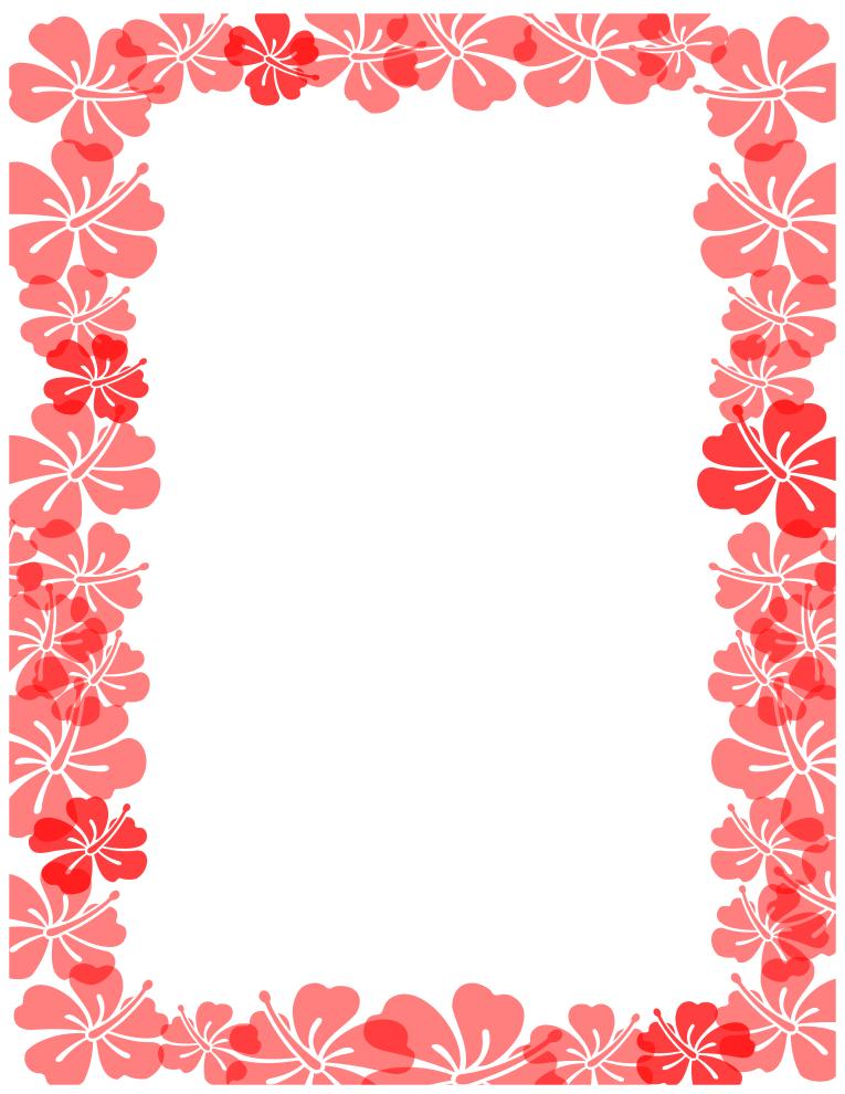 Hawaiian Border Clipart - Clipart Kid