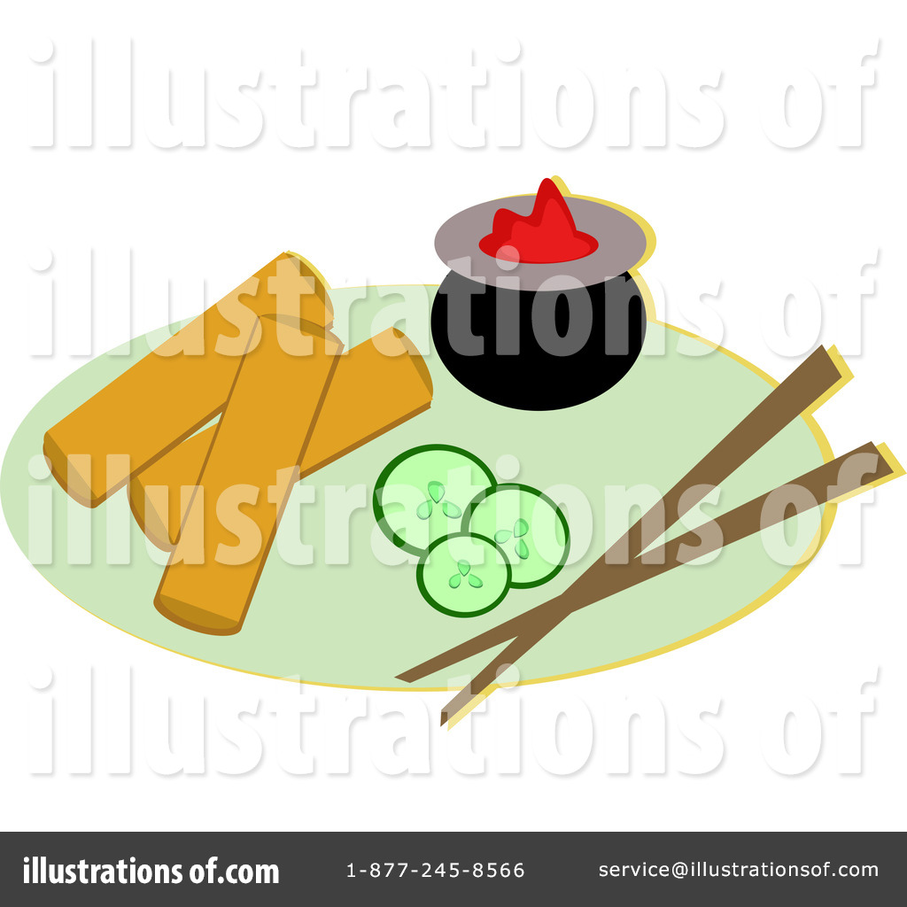 Royalty Free  Rf  Asian Food Clipart Illustration By Bpearth   Stock