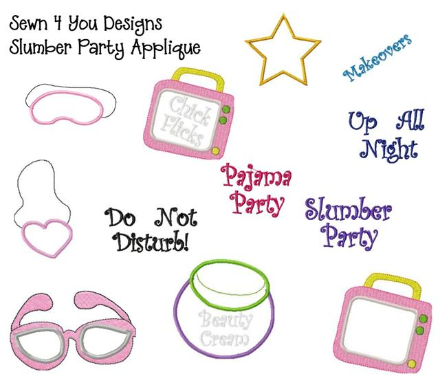 Slumber Party Applique Clipart