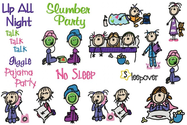Slumber Party Sticks Sleepover Sticks Artwork From Jd S Clipart I Have