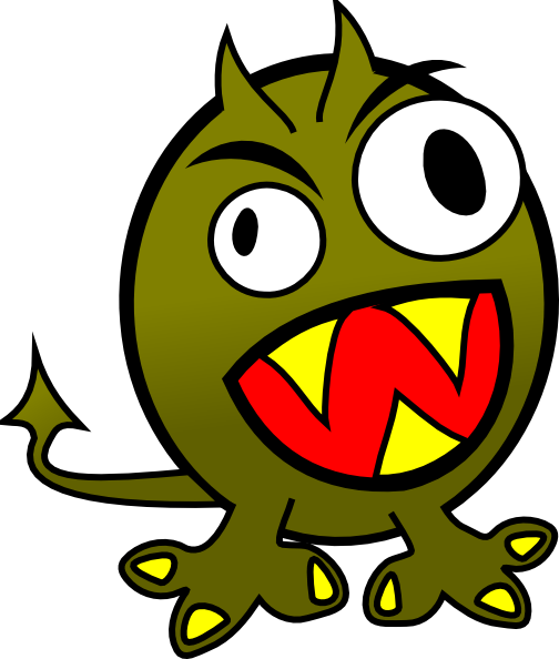 Small Funny Angry Monster Clip Art At Clker Com   Vector Clip Art