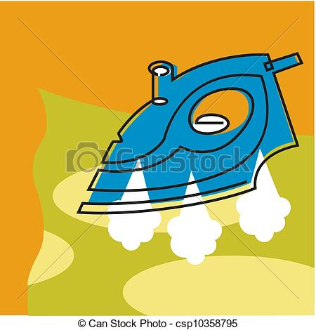Stock Illustration Of Steam Iron Csp10358795   Search Vector Clipart