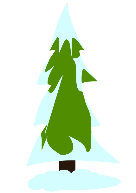 Clipart   Snowy Pine Tree