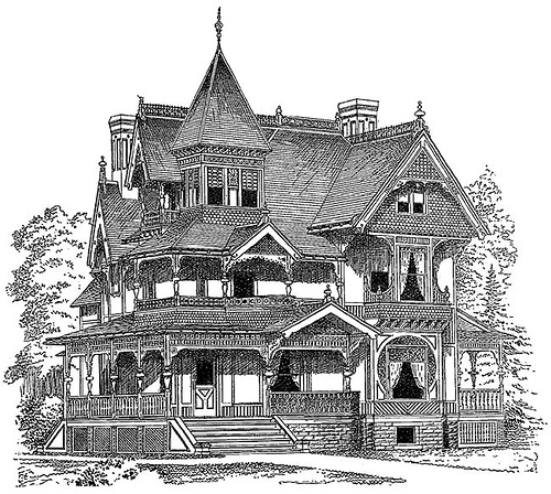 Clipart Victorian House Free   Clipart Video