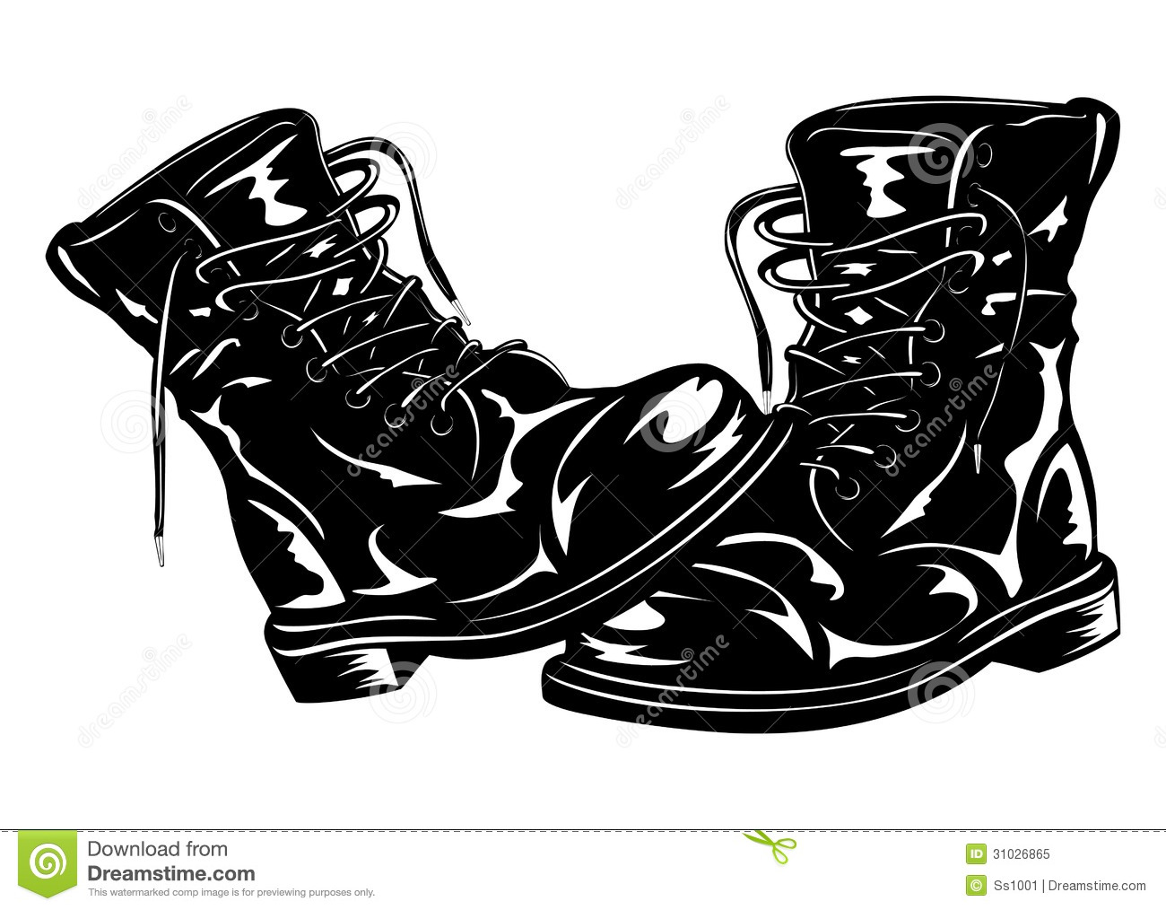 clipart of military boots - photo #8