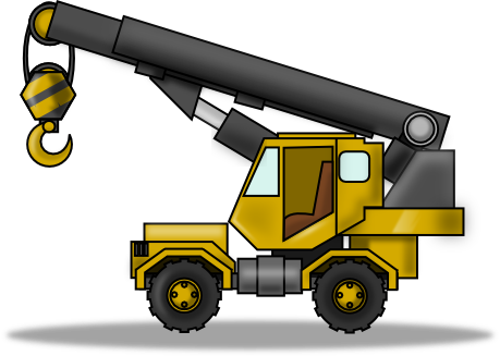 Free Crane Heavy Equipment Clip Art