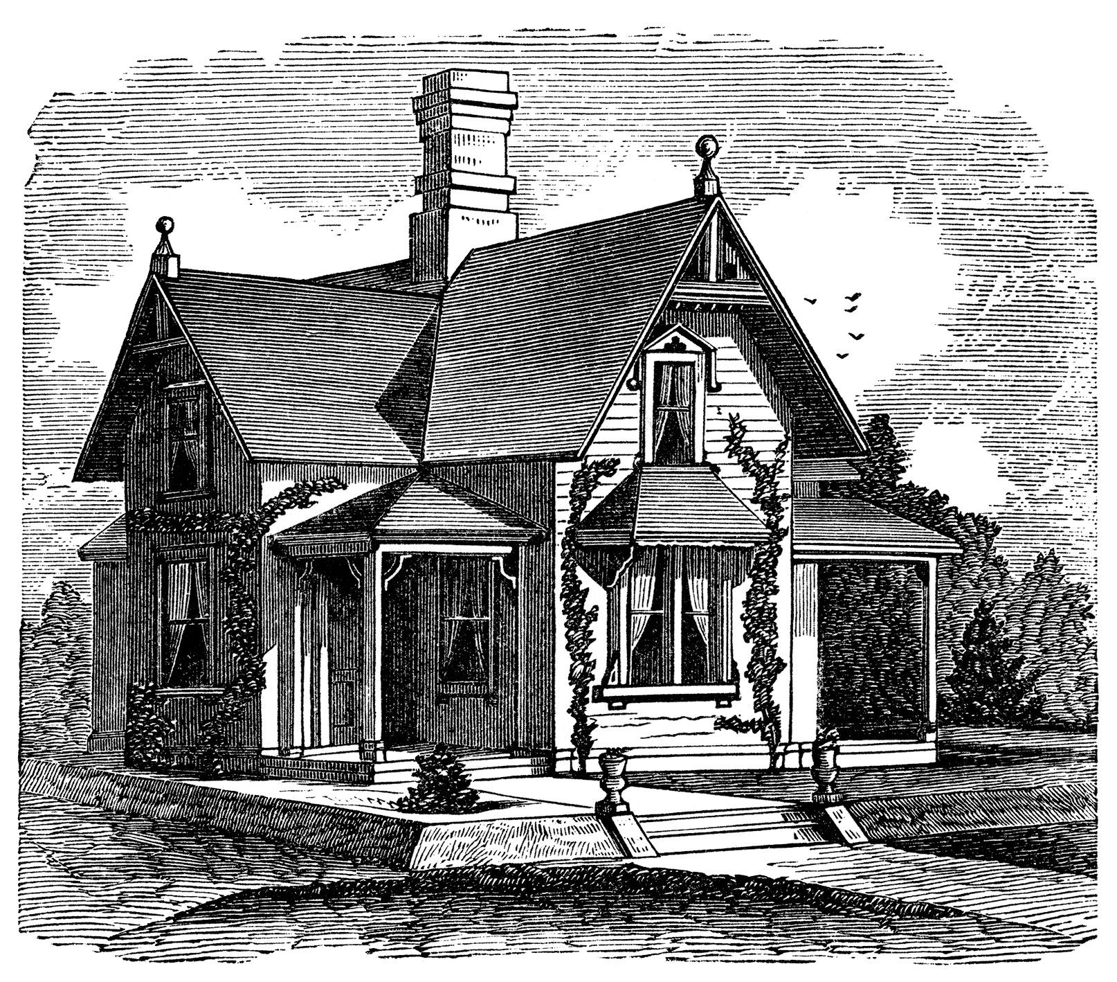 Victorian House Clipart - Clipart Kid