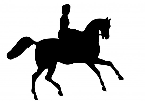 Horse Rider Silhouette Clipart By Karen Arnold