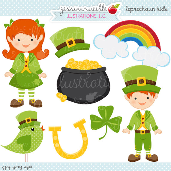 Cute Leprechaun Clipart - Clipart Kid