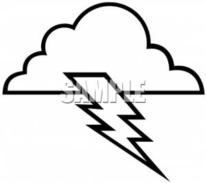 Lightning Bolt Black And White Clipart - Clipart Kid