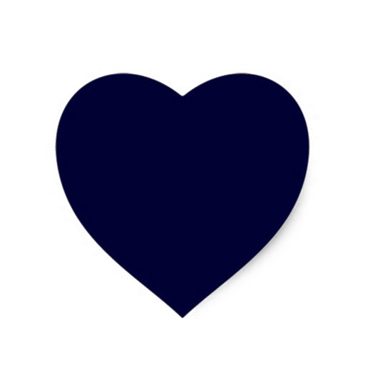 Navy Blue Solid Color Template Heart Stickers   Zazzle