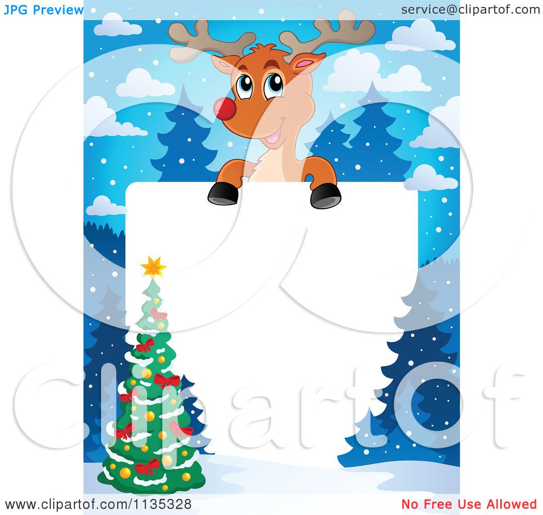 Reindeer Border Clipart - Clipart Kid