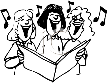 Group Singing Clipart - Clipart Suggest