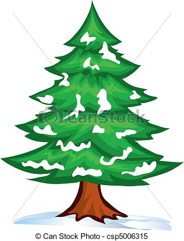 Snowy Pine Tree Clipart   Clipart Panda   Free Clipart Images