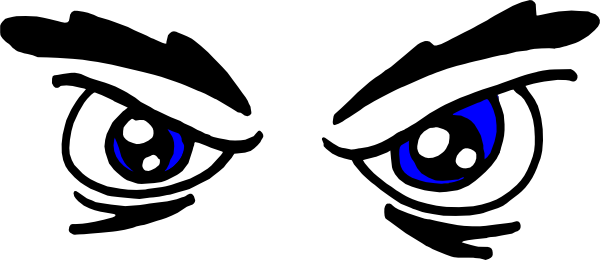 Angry Eyes Clip Art At Clker Com   Vector Clip Art Online Royalty