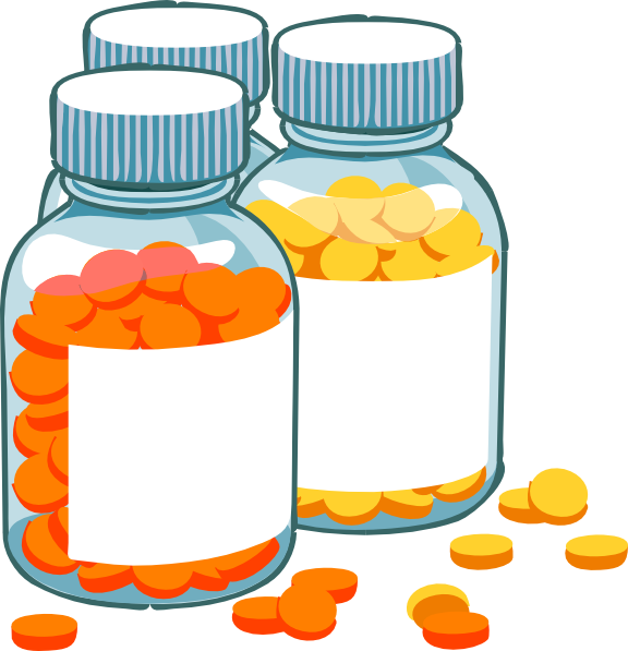 Blank Pill Bottles Clip Art At Clker Com   Vector Clip Art Online