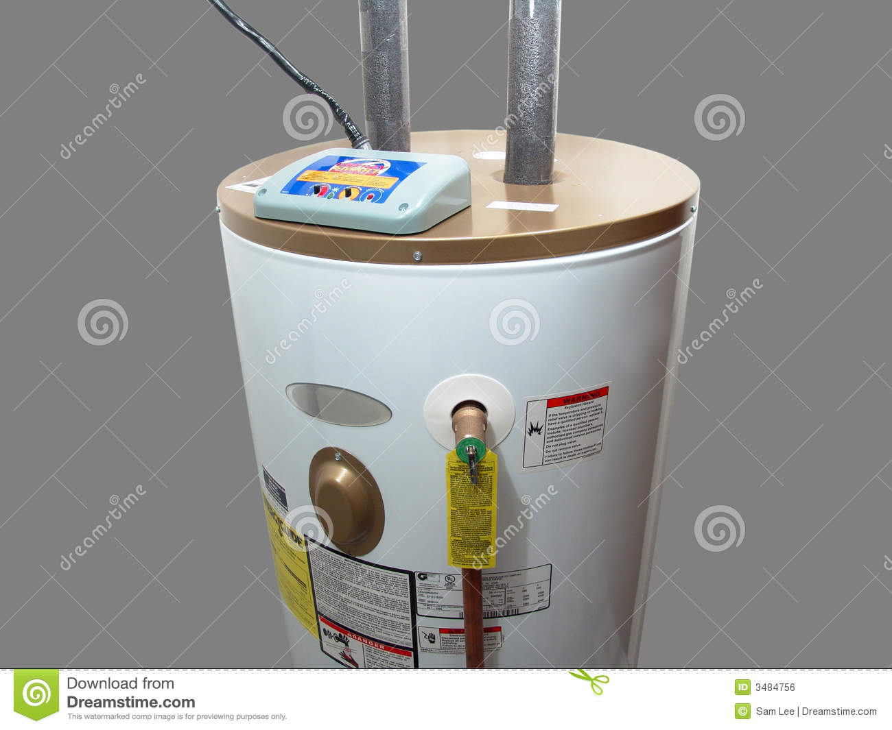 Electric Water Heater Royalty Free Stock Image   Image  3484756