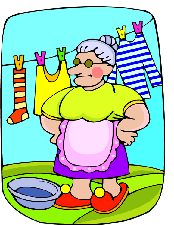 clipart hanging clothes - photo #32