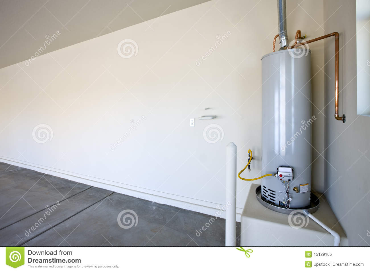 Hot Water Heater In A Garage Royalty Free Stock Photo   Image