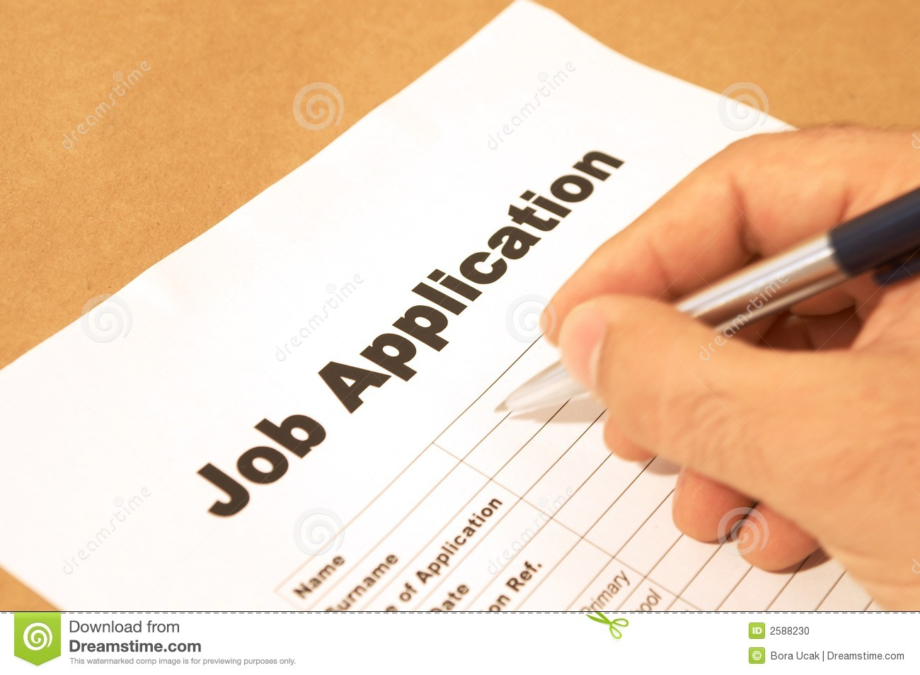 Job Application Stock Photo   Image  2588230