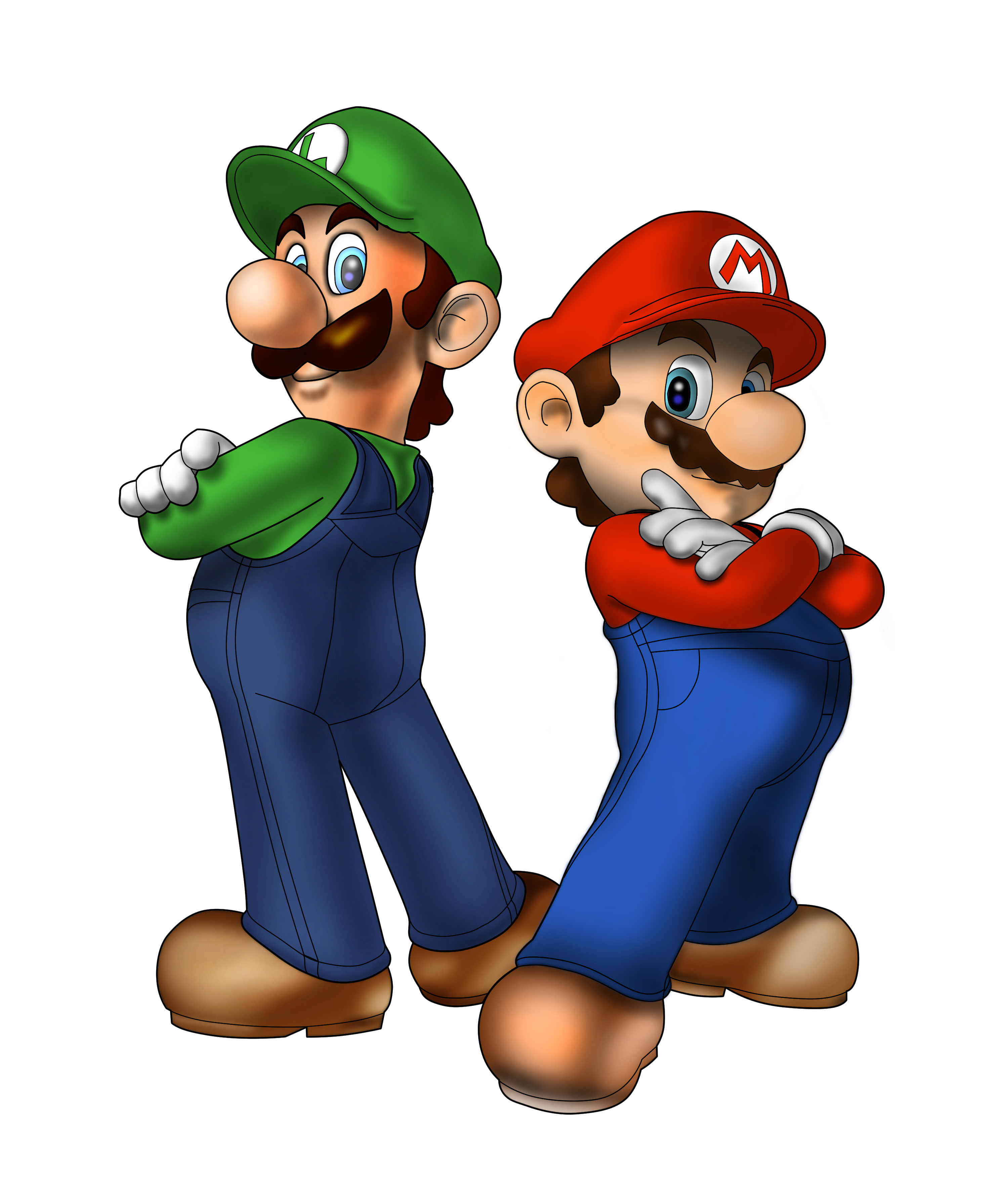 Mario And Luigi Clipart - Clipart Kid