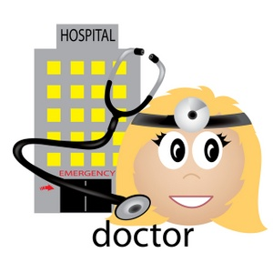 Medical Clipart Image   Medical Icon  Female Doctor With Stethoscope