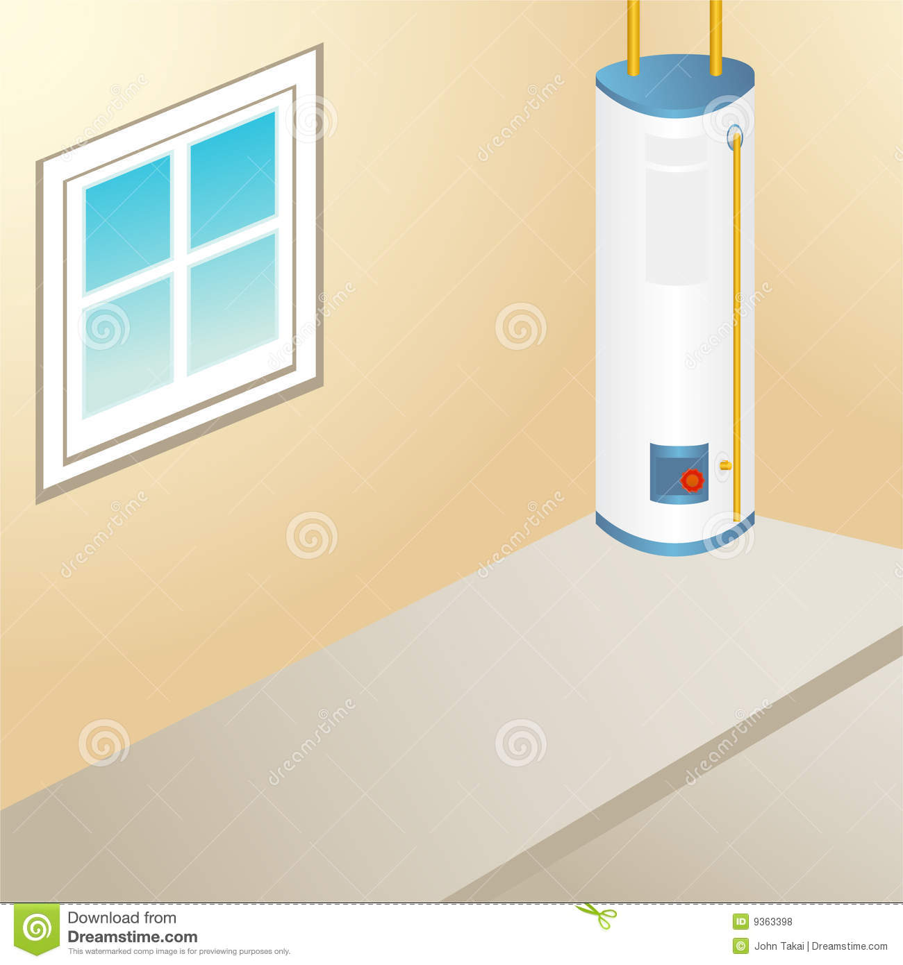 Outdoor Water Heater Royalty Free Stock Photos   Image  9363398