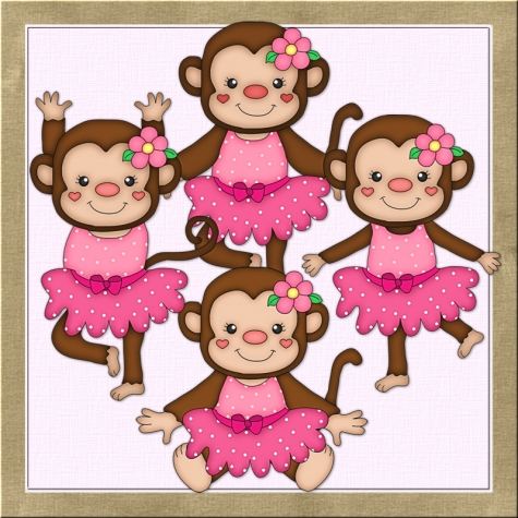 Pink Mod Monkey Clip Art Http   Www Graphicsshoppe Com Index Php Main