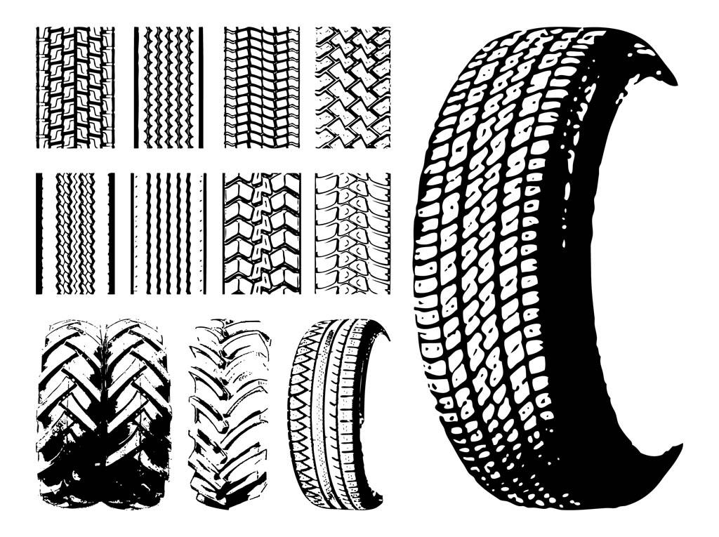 vector clipart tire tracks - photo #49