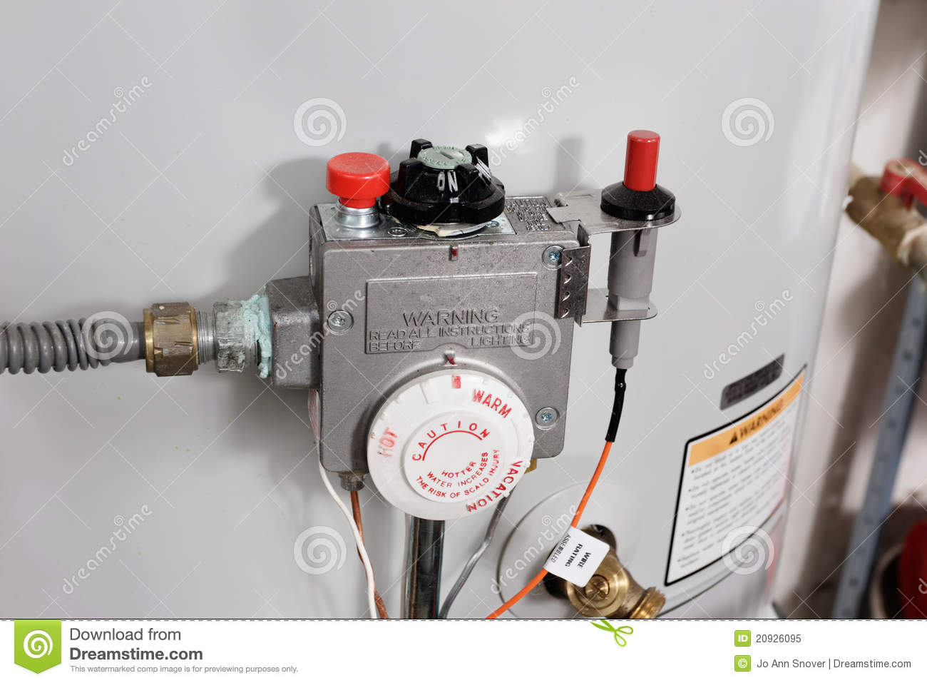 Water Heater Controls Royalty Free Stock Photo   Image  20926095
