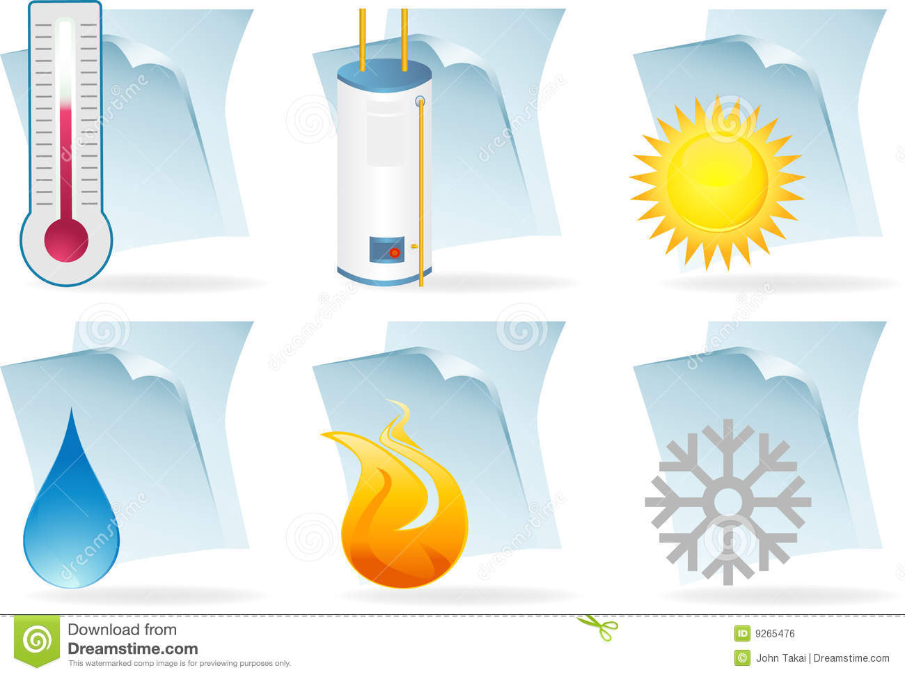 Water Heater Document Icons Royalty Free Stock Image   Image  9265476