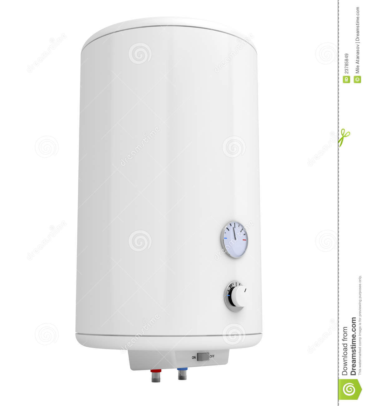Water Heater Isolated On White