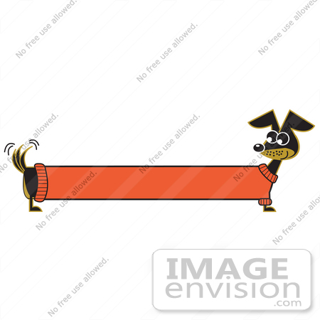 29267 Royalty Free Cartoon Clip Art Of A Long Stretched Dachshund Dog