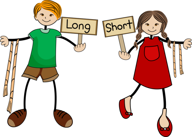 Clip Art Of Kids With Long And Short Signs   Dixie Allan