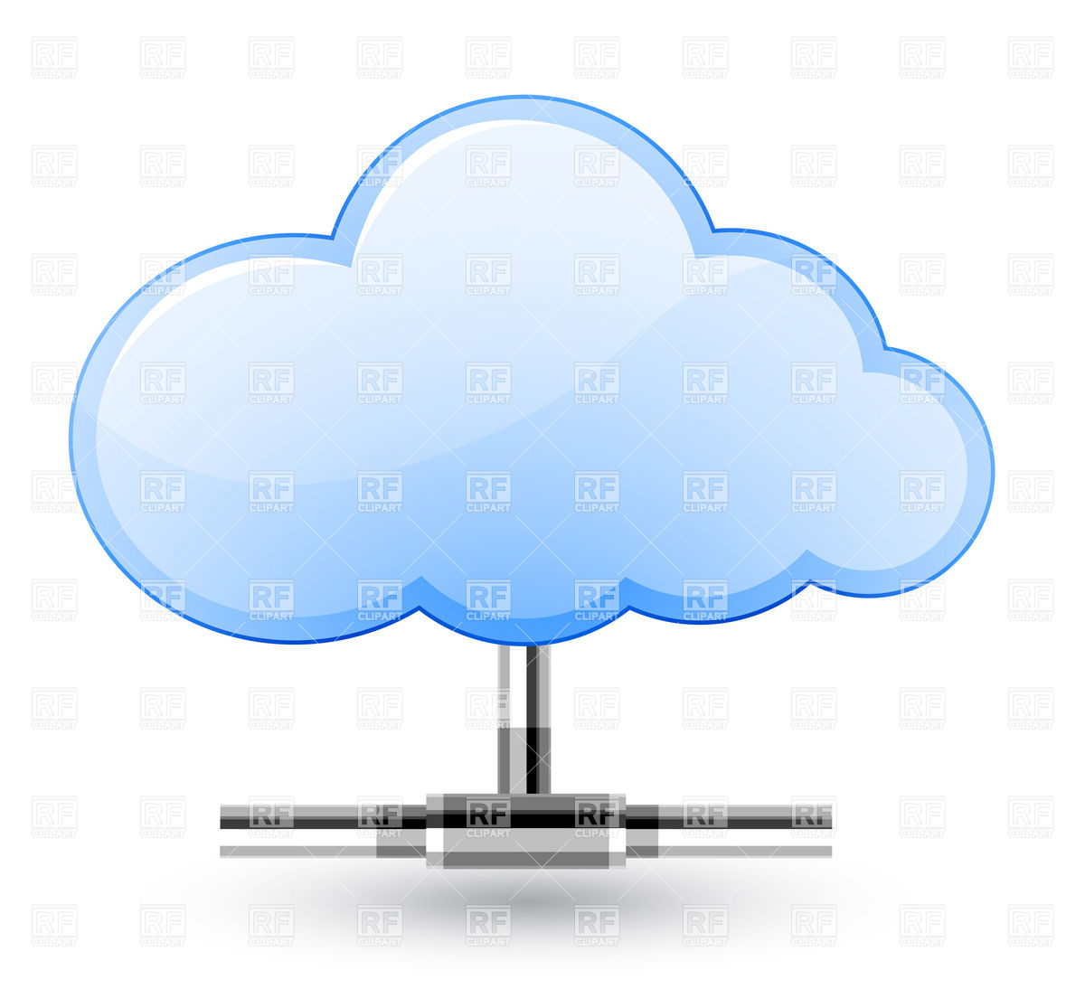 Cloud Network Connection Element Download Royalty Free Vector Clipart