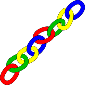 Color Chain Links   Long Clip Art