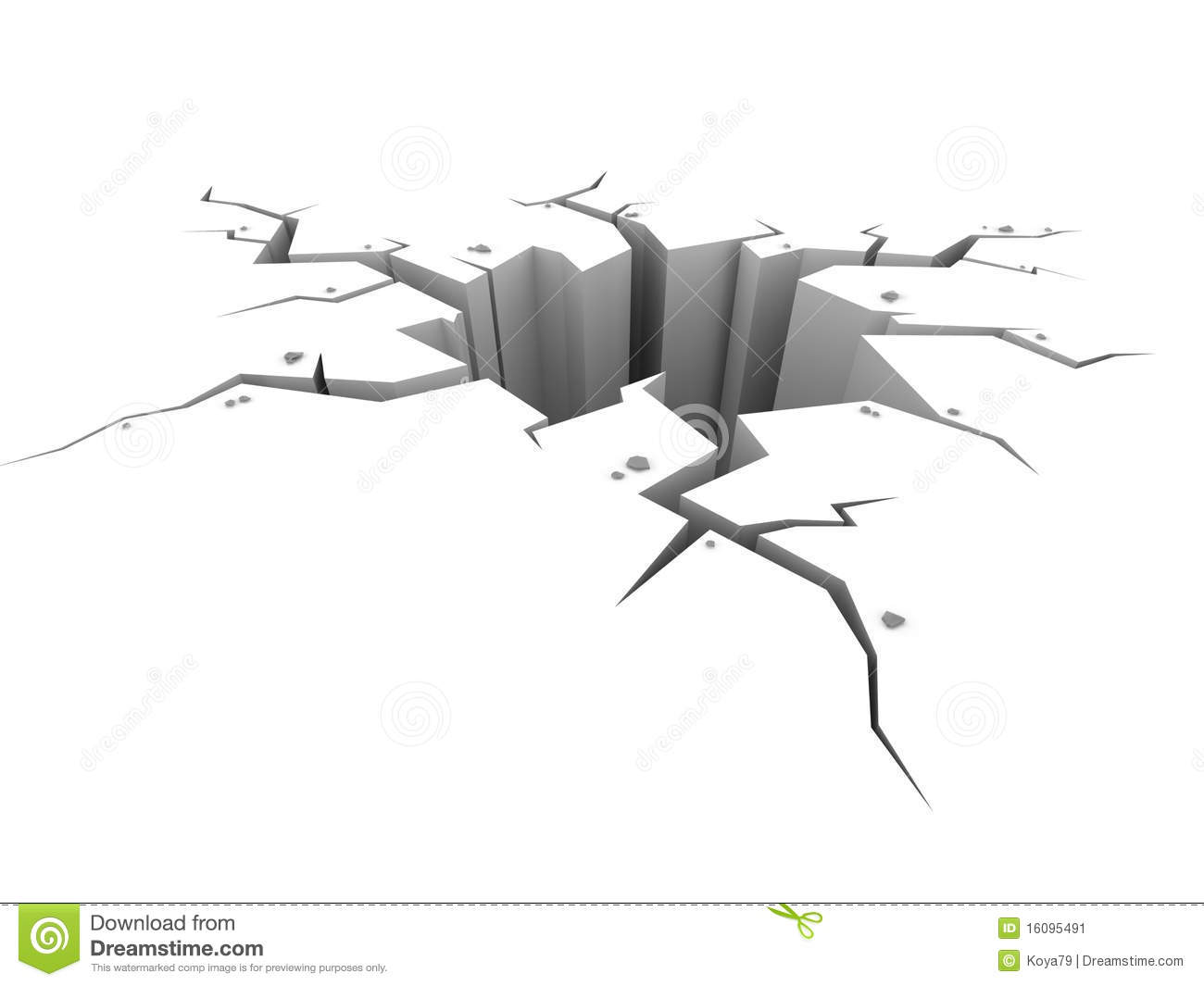 Earthquake Crack In Ground Clipart Earth Ground Crack On White